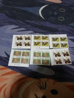 Authentic butterfly singapore stamp