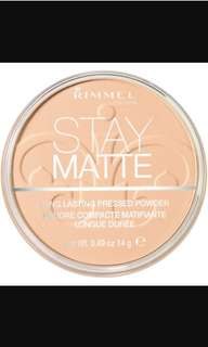 Rimmel Stay Matte Pressed Powder, Transparent 001
