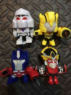 TRANSFORMERS SET mcdo collection 2018