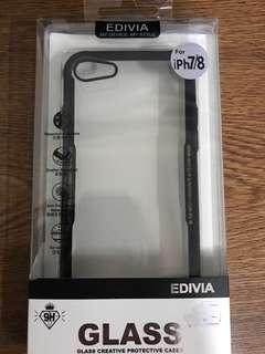 iPhone7/8 Glass Case(black)