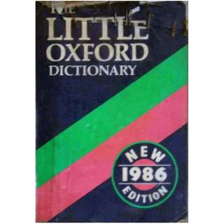 LITTLE OXFORD DICTIONARY