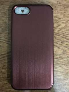 iPhone7/8 light Soft Case(dark red)