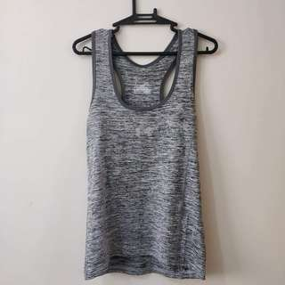 Under Armor Women's Dry Fit Workout Tank Top (Gray)