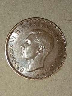 英國舊硬幣Farthing 四份一錢