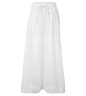 Sacai Luck 超有型白色蕾絲闊腿褲