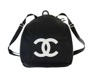 收藏級Chanel黑色尼龍backpack背包 32x25x6.5cm