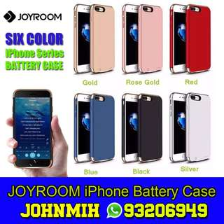 JOYROOM Double Power iPhone Battery Case 最薄電池套 電力倍增 for iPhone 8, 8 Plus, 7, 7 plus, 6s, 6s Plus, 6, 6 Plus 2500mAh & 3500mAh 電池充電套 power bank case