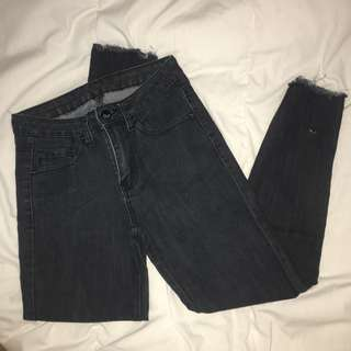 [PRICE DROP] Black Frayed Jeans
