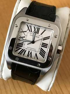 Cartier Santos 100 leather watch strap