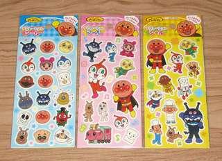 日本正版 Anpanman 麵包超人 貼紙