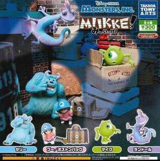 Monsters INC 怪獸公司扭蛋 毛毛($25), 大眼仔(sold), 變色龍($15)