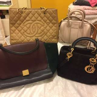 Chanel , Givenchy , celine , dior lady