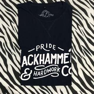 Jackhammer co the handlettering series tee size l