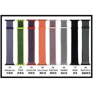 Apple Watch 42mm 尼龍代用錶帶 (包郵)