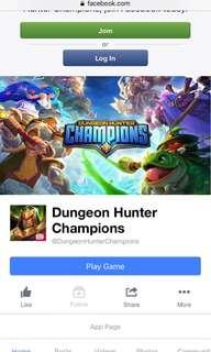 Wtb dungeon hunter champions acc