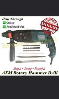 AXM Rotary Hammer Wall Drill 26mm 800Watt 2607 Powerful