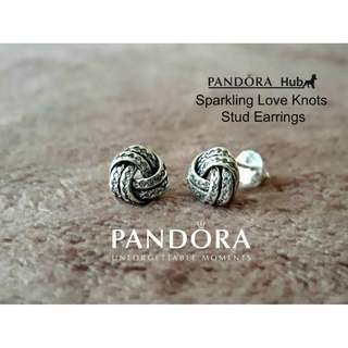 SPARKLING LOVE KNOTS STUD EARRINGS