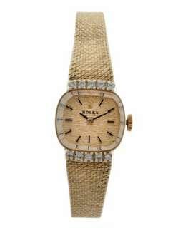 ROLEX 14K Gold & Diamond Ladies Wristwatch
