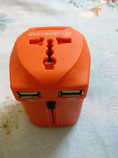 Universal adapter with dual USB Charger