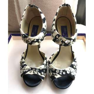 Jimmy Choo  X H&M   printed suede heel platform sandals shoes     ***Size : 36*** ....