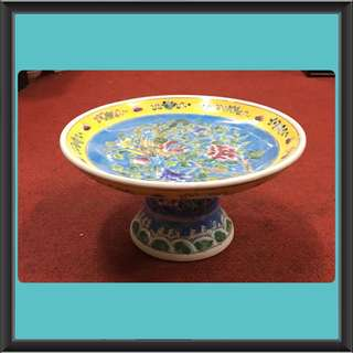 Vintage Peranakan Fruit Compote With Stand