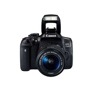 Canon EOS 750D + Lens Kit + Portrait Lens + Extra Battery