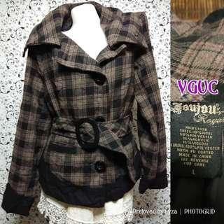 Checkered coat