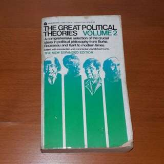 Vintage Book, The Great Political Theories Volume 2 By Michael Curtis