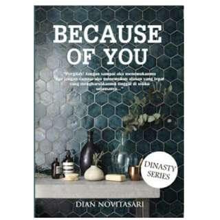 Ebook Because Of You - Dian Novitasari