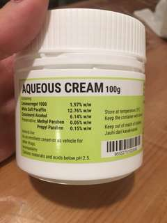 New Aqueous Cream 100g Expiry date 2021