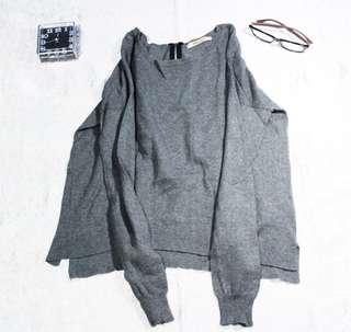 Top grey-sweatshirt