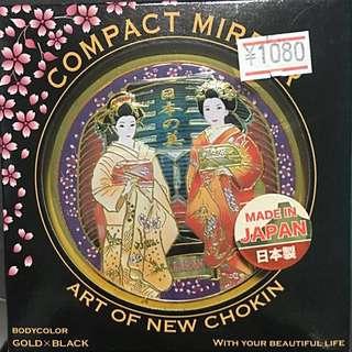 🚚 日本當地購買藝妓 雙面隨身鏡