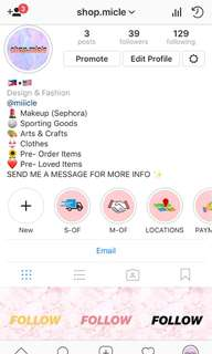 Instagram Shop ❤️