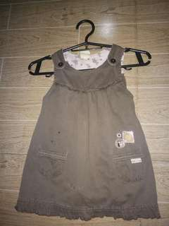 Brown dwnim dress