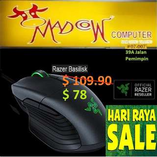 """Razer Basilisk - Multi-color FPS Gaming Mouse - AP Packaging ( Offer Sales )""""Hurry Grab it by Tonite....While Stock Last.."""""""