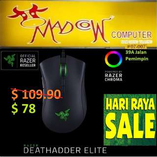 "Razer DeathAdder Elite - Ergonomic Gaming Mouse. ( Sales )""Hurry Grab it by Tonite....while Stock Last.."""