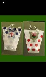 英格蘭,威爾斯,足球紀念膠袋,禮物袋,英國 UK Gift Bag Football,England, Wales 英國紀念膠袋,禮物袋,英國 UK Gift Bag Football