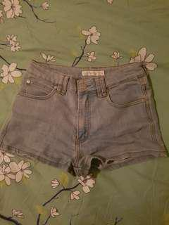 Quirky Circus Denim Shorts with Heart Pockets