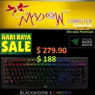 """Razer BlackWidow X Chroma - Multi-color Mechanical Gaming Keyboard - US Layout FRML ( Offer Sales, """"Hurry Grab it by Tonite....while Stock Last.."""")"""