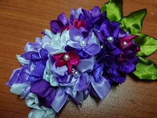 Hydrangeas hair pin with pearls