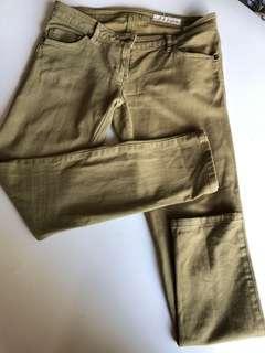 Green khaki Sass and Bide jeans