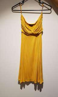 Miss Selfridge Yellow Bandeau Dress