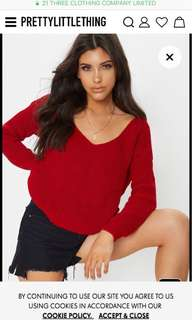 BRAND NEW Red cropped jumper