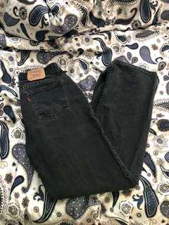 Levi's Straight-Cut, High-Waisted, Washed Out, Dark Grey Jeans (from Black Market)