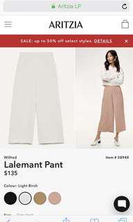 Wilfred Grey Cullote Pants