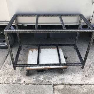 """New 48x24x30"""" 30mm rock iron stand"""
