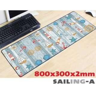 SAILING-A 8030 Extra Large Mousepad Anti-Slip Gaming Office Desktop Coffee Dining Tabletop Decorative Mat