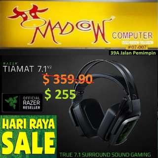 "Razer Tiamat 7.1 V2 - Analog / Digital Gaming Headset -  FRML Packaging..""Offer Sales..,"