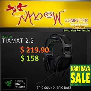 "Razer Tiamat 2.2 V2 - Analog Gaming Headset - FRML Packaging.."" Offer Sales..,Hurry Grab it by Tonite....while Stock Last.."""