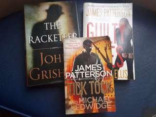 Fictional Books John Grisham, etc (3 for 150)